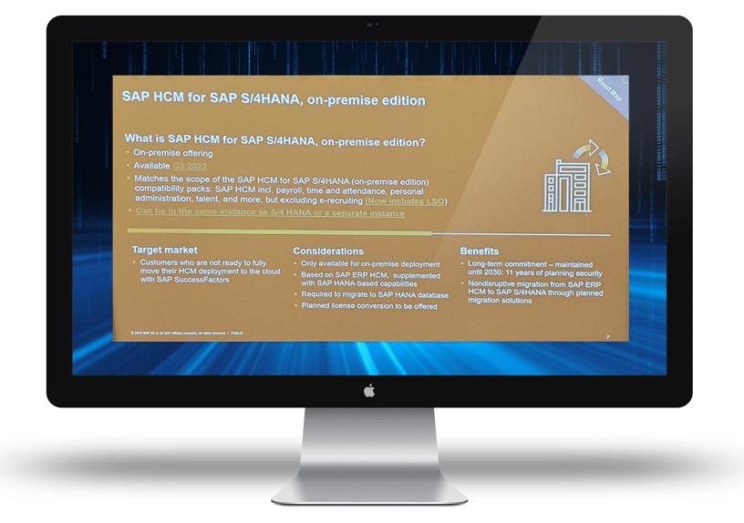SAP HCM for SAP S/4HANA, on-premise edition