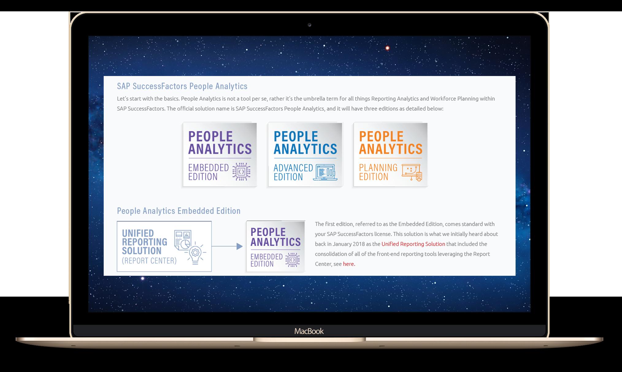 People Analytics - three solutions