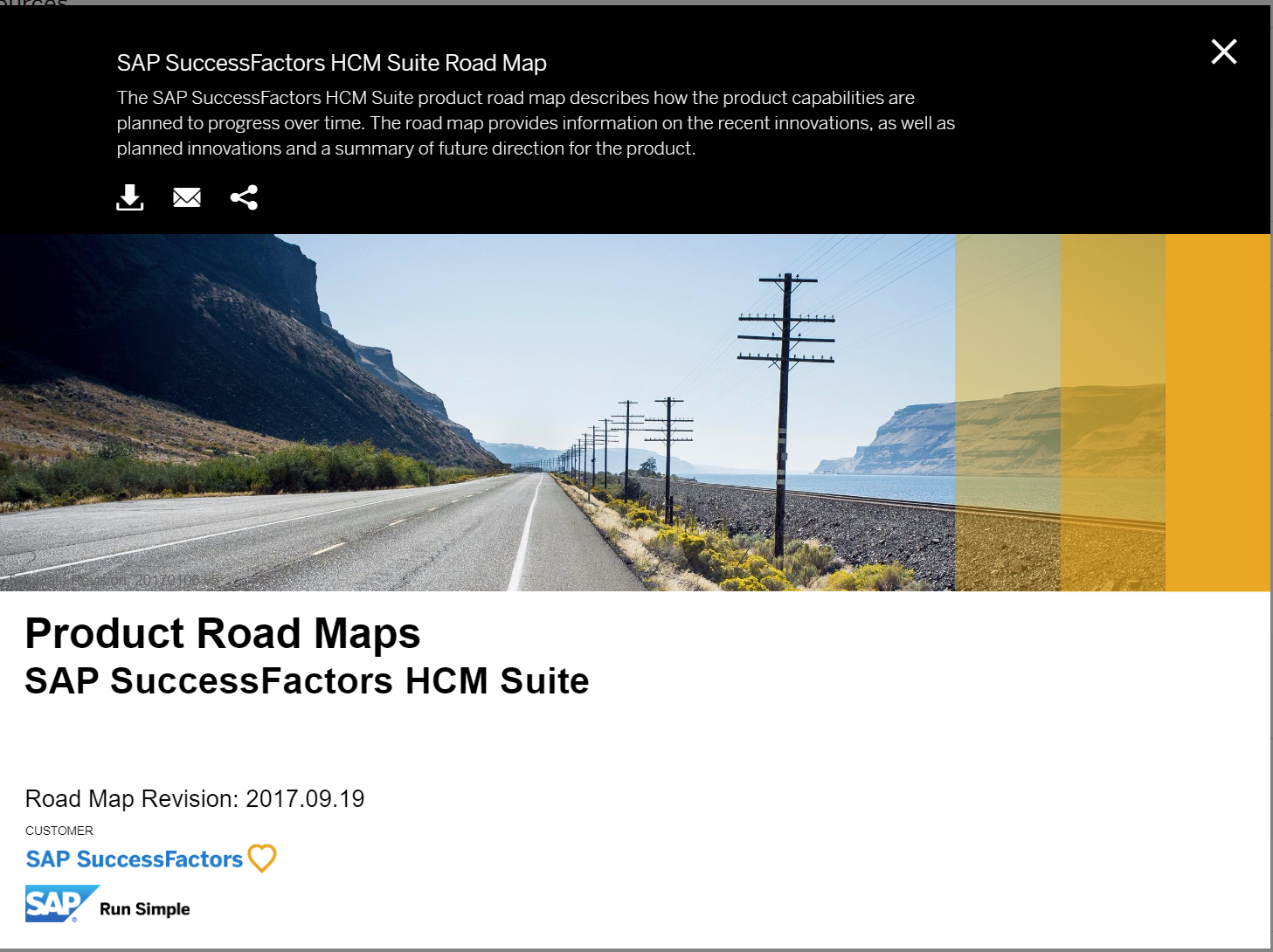 SAP SuccessFactors HCM Suite Road Map