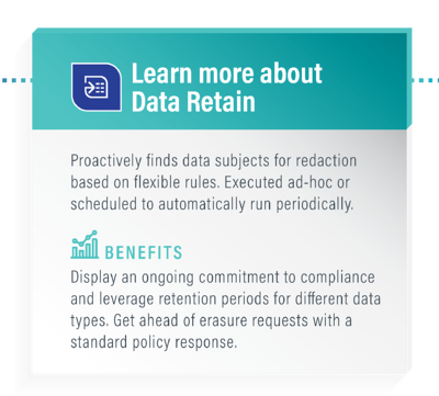 Data Retain - Data Privacy suite link