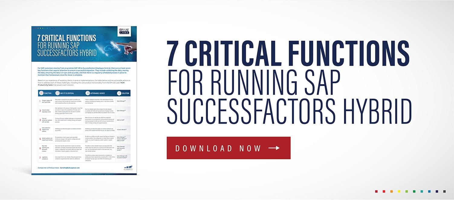 7 Critical functions SAP