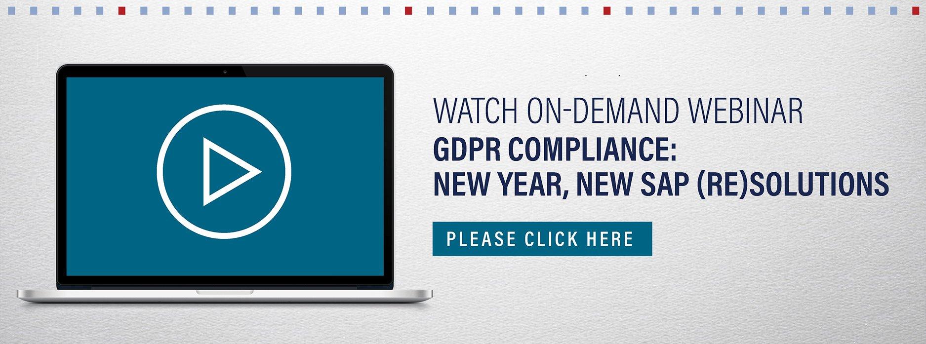 SAP GDPR webinar