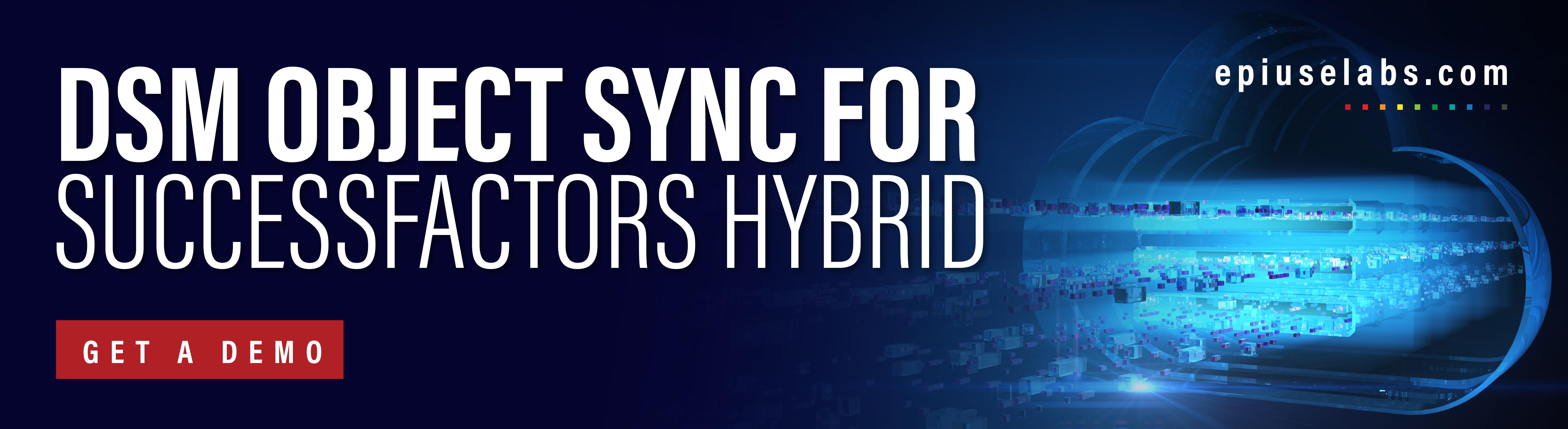 DSM Object Sync for -SuccessFactors Hybrid