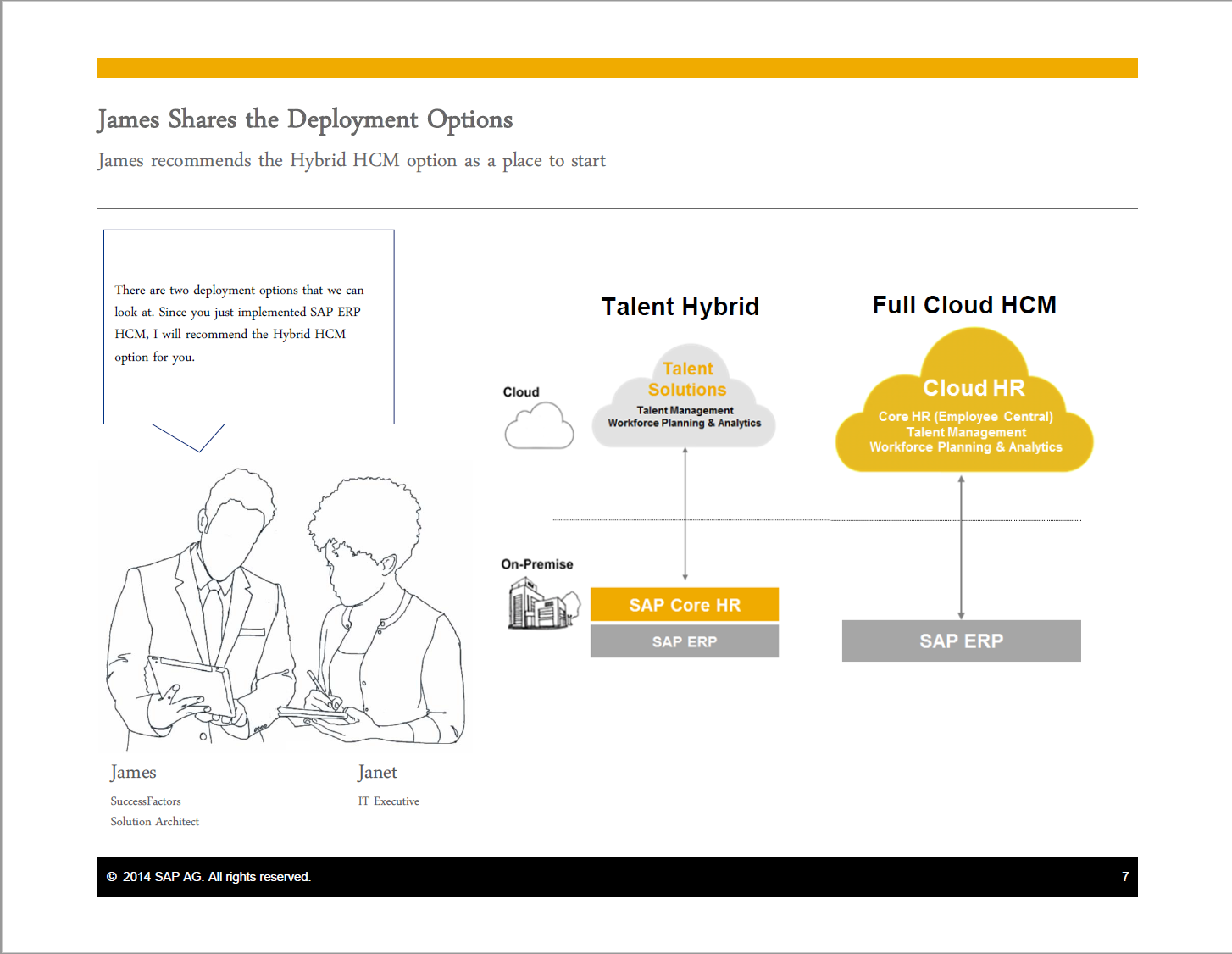 SAP created a new landscape model called the Talent Hybrid