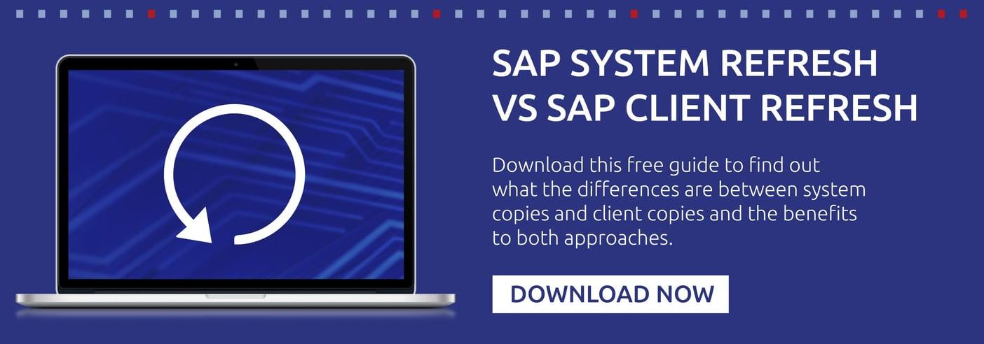 SAP system refresh vs sap client refresh