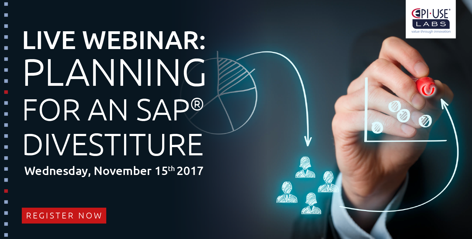 Planning for an SAP divestiture webinar