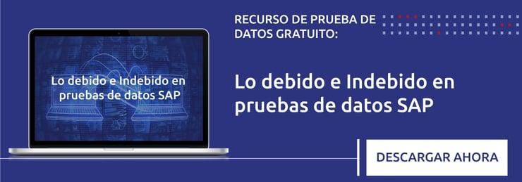 Lo debido e Indebido en pruebas de datos SAP