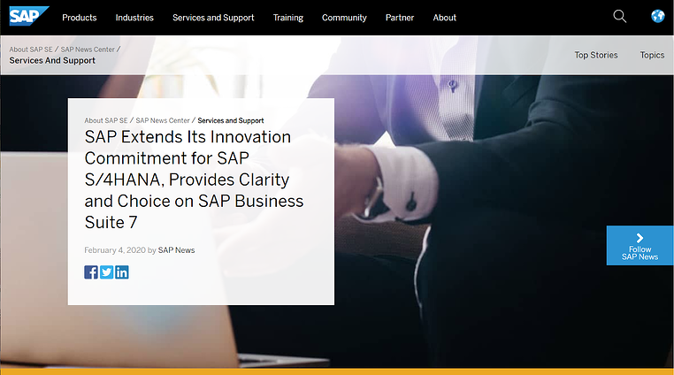 SAP Services and Support