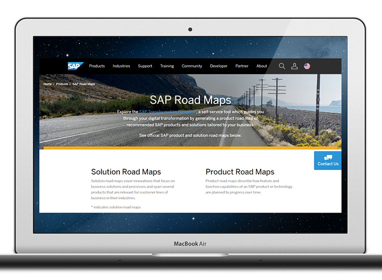 sap-road-maps-screen