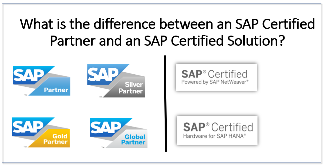 The difference between an SAP Certified Partner and an SAP Certified Solution?