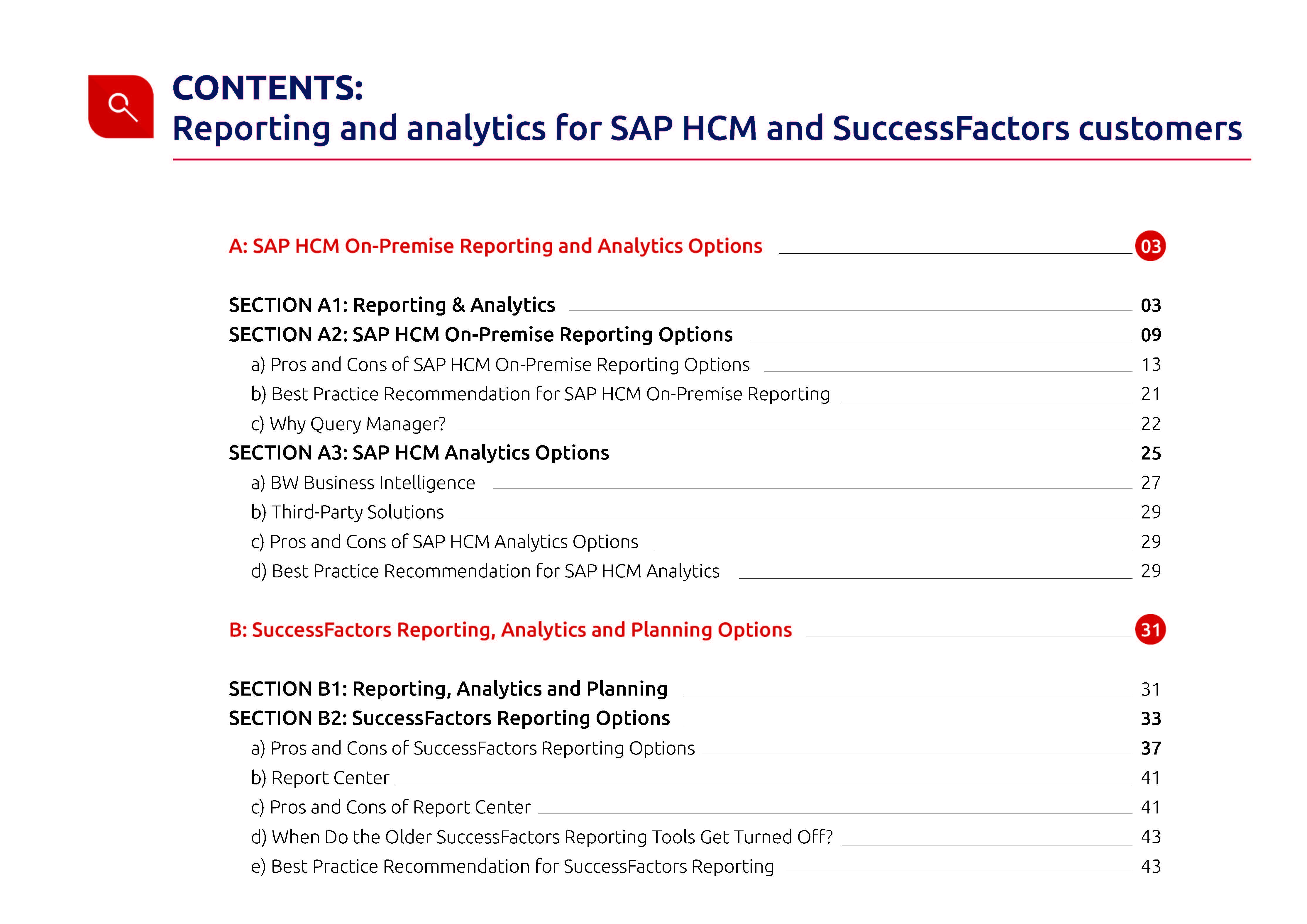 Reporting and analytics for SAP HCM and SuccessFactors customers