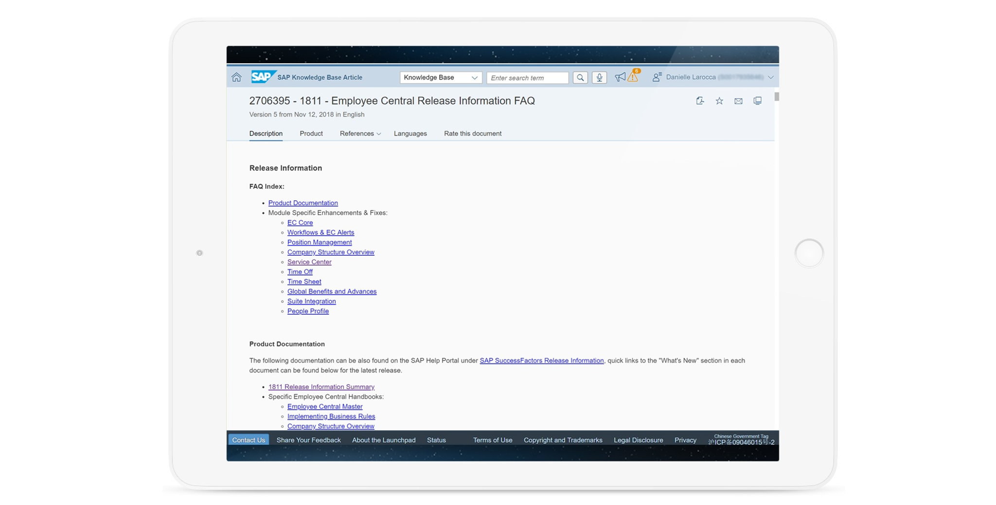 Accessing SAP SuccessFactors Knowledge Base Articles